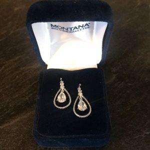 Montana silver earrings